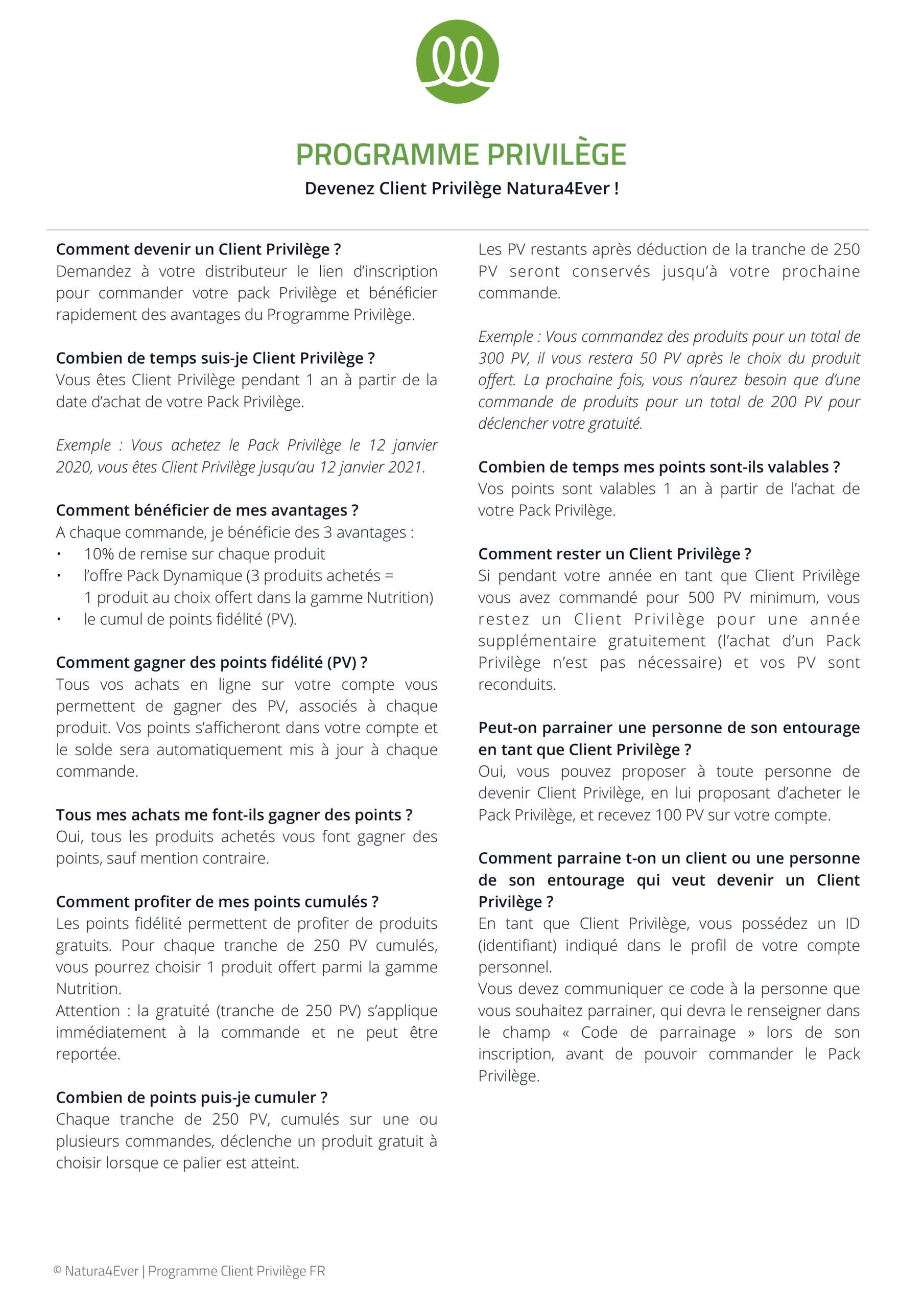 Programme Privilège N4E2